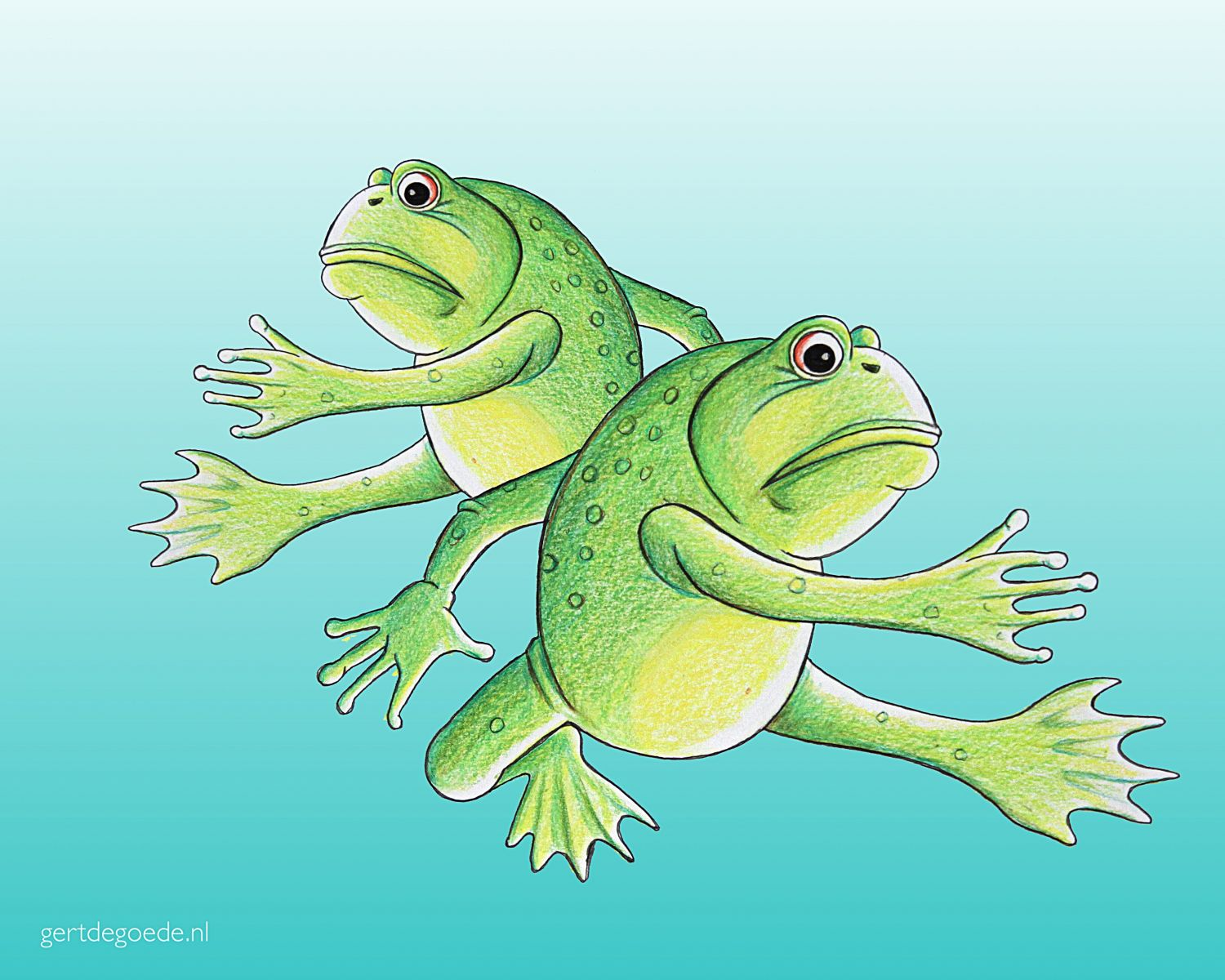 kikker frog frogs kikkers froschen #illustration #illustrator #illustratie #illustrazione #illustrazioni #ambachtelijk #ambacht #vrolijk #happy #fun #cheerful #cartoon #comic #photoedit #thumbsup #artwork #fröhlich #cheerful #gai #glædelig #lëschtegb #快活 插图 gert de goede Gert de Goede